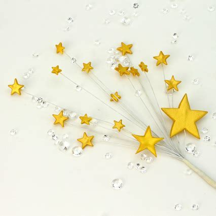 Radiant Gold Handmade Icing Shooting Stars Spray With