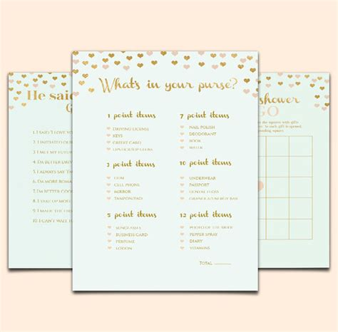 mint bridal shower game template printable bridal shower game