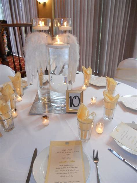 Baby shower angels table decor   Decorations   Pinterest