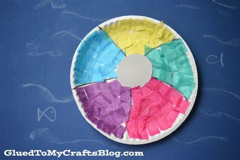 Paper Balls Craft - paper plate kid craft