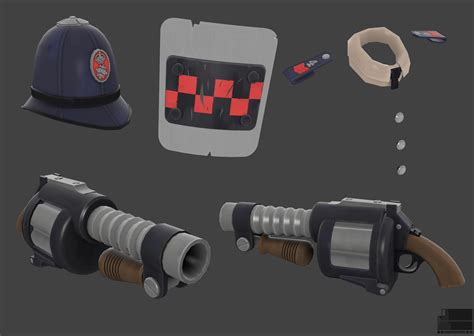 Tf2 Giveaways - tf2 police demo items by elbagast on deviantart