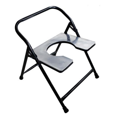 Foldable Stool With Back by Commode Stool With Plastic Pot Foldable With Back Support