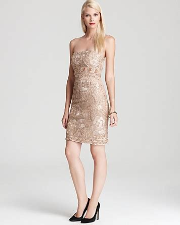 T2b Spotting The Meister Club Wear by Sue Wong Strapless Dress Beaded In Pink Lyst
