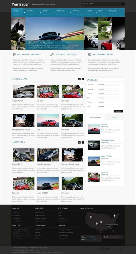 youtrader responsive joomla cars template