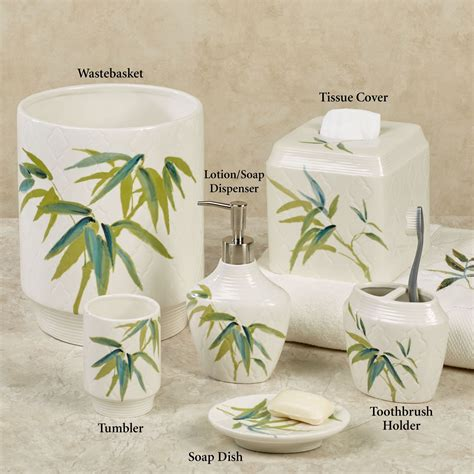 zen bamboo bath accessories