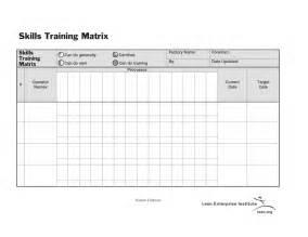 standard work skills training matrix lean enterprise