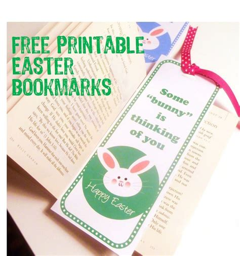 free printable easter bookmarks easy bookmark craft for kids to make for family and