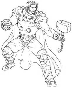 thor coloring pages bestofcoloring com
