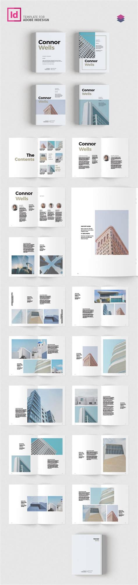 Portfolio Layout Indesign Download | portfolio booklet template for designers adobe indesign