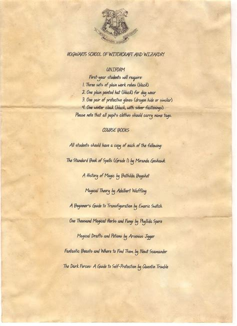 Harry Potter Acceptance Letter List 17 Best Images About Hogwarts Acceptance Letter On Trips Shops And Hogwarts