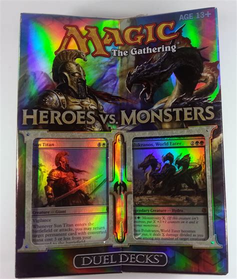 magic decks heroes vs monsters mtg magic the gathering duel decks