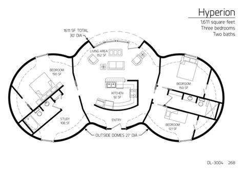 2000 sf floor plans floor plans 1 101 sf 2 000 sf monolithic dome institute