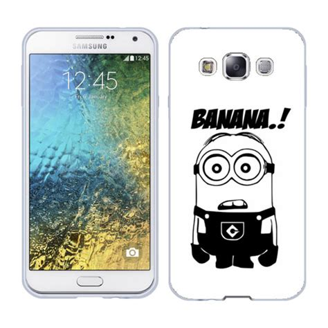 Silicon Samsung Galaxy E5 E500 E 500 husa samsung galaxy e5 e500 silicon gel tpu model minion banana husecolorate ro