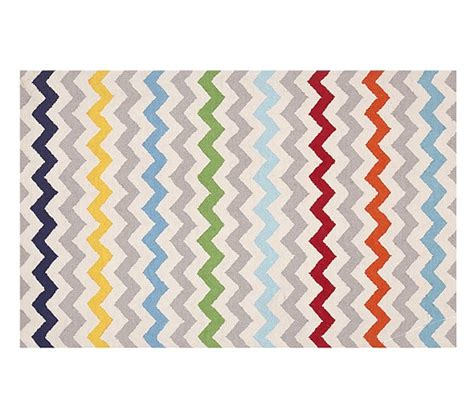 multi chevron rug chevron multi rug pottery barn