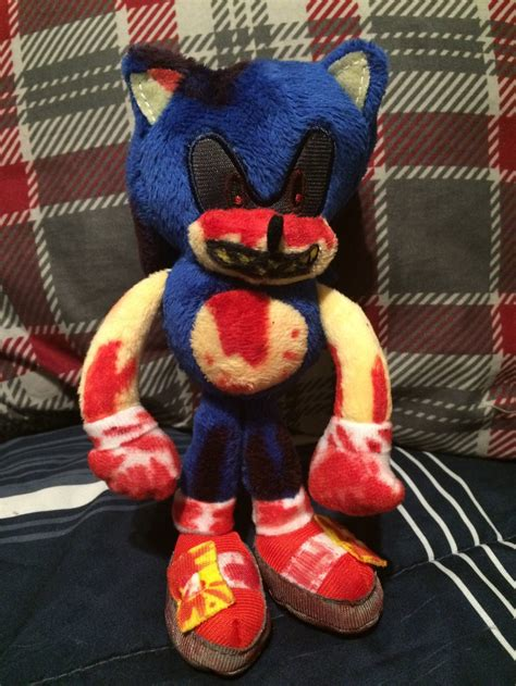 sonic plushies sonic exe plush by hypershadow92 on deviantart