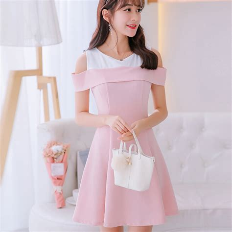 Jfashion Korean Style Bodycon Dress Quinn korean summer dress clothing slim show thin