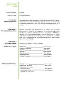 curriculum vitae espanol 2