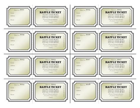 template for raffle tickets templates certificates raffle tickets tickets certificates