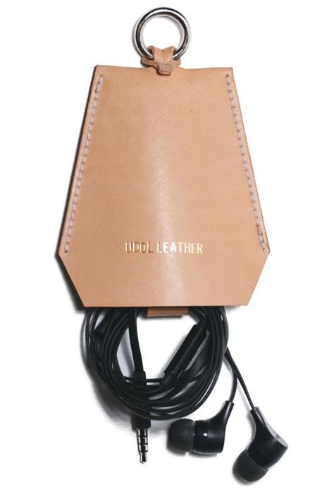 Personalized Leather Charger custom make earphone charger leather holder by udolleather udol leather