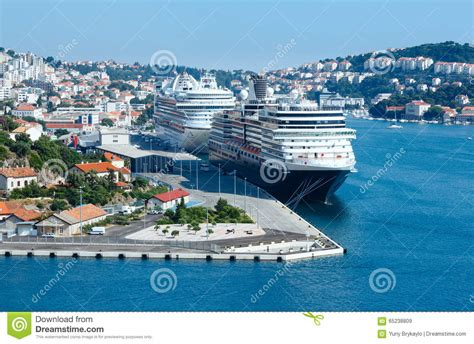 port maritime ville de dubrovnik croatie image stock