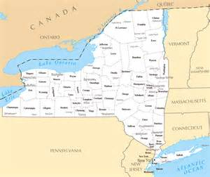 Map Of New York State by New York State Map Grey