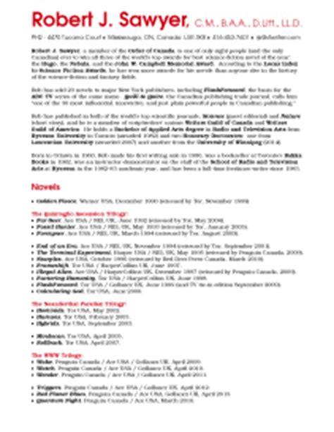 Resume Cv Sawyer Rob S Cv His Curriculum Vitae His R 233 Sum 233 A Summary Of