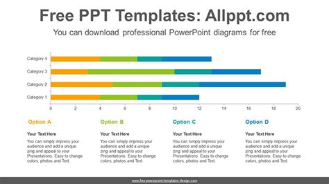 stacked diagrams for powerpoint stacked bar chart powerpoint diagram template