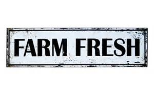 One Story Farmhouse farm fresh sign wall sign wall decor