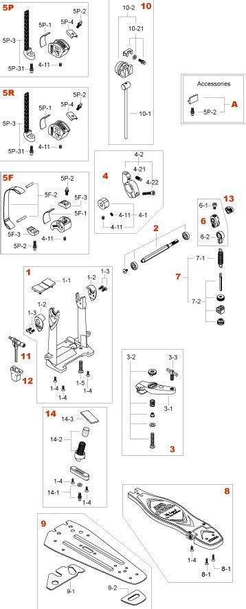 Tama Rolling Glide Chain Assembly Hp95rn iron cobra single pedal hp900psn hp900rsn hp900fsn production 2011 3 tama parts catalog