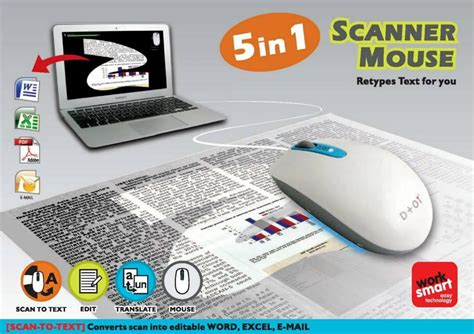 Mouse Scanner scan quickly and efficiently with the d oi zcan scanner mouse giveaway and