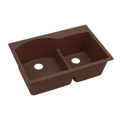 Quartz Kitchen Sinks Elkay Quartz Classic Undermount Composite 33 In Single Bowl Kitchen Sink In Mocha Elgus3322rmc0
