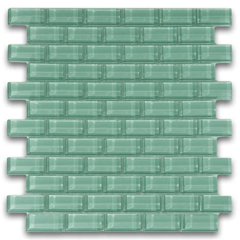 glass subway tiles sage green 1x2 mini glass subway tile for backsplashes