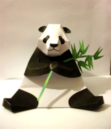 How To Make A Panda Out Of Paper - paper panda by slow64 on deviantart