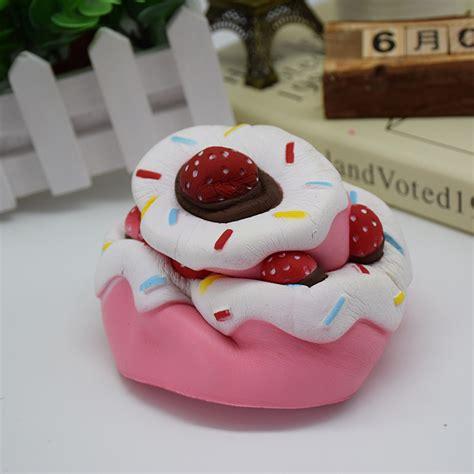 Squishy Vlo Strawberry Cake Original simulation strawberry cake squishy soft phone straps cell phone charm key straps alex nld