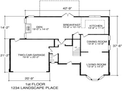 floor plan with measurements simple house floor plans with measurements escortsea