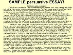 Free Persuasive Essay Exles by Drafting Outline Of A Sample Persuasive Essay Ppt