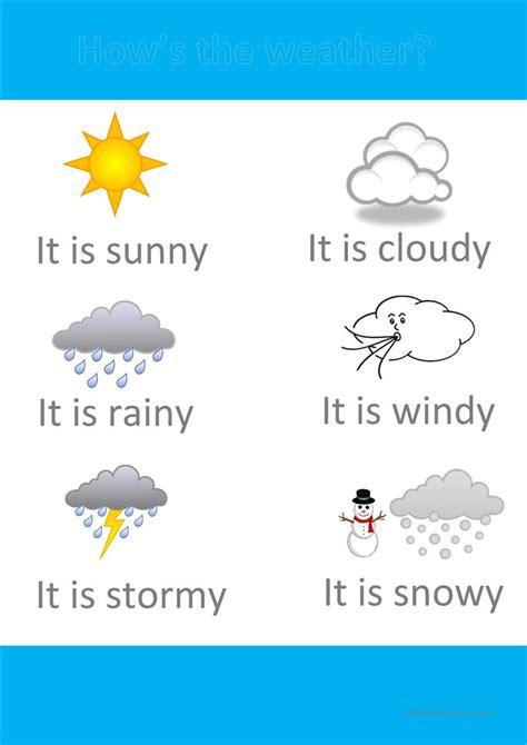 printable weather poster poster weather worksheet free esl printable worksheets
