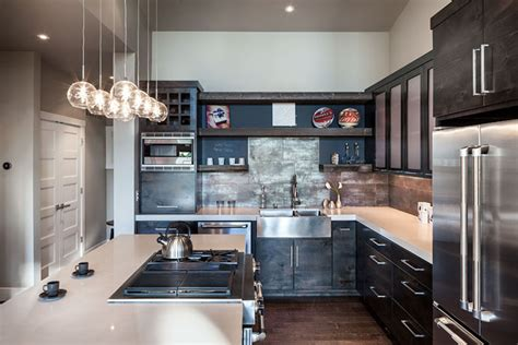 industrial modern kitchen designs industrial retreat with modern stylish interior