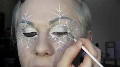 makeup tutorial snow queen snowflake fairy or ice queen makeup tutorial youtube