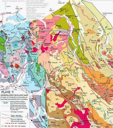 seattle geologic map cascades geology domains of the cascades