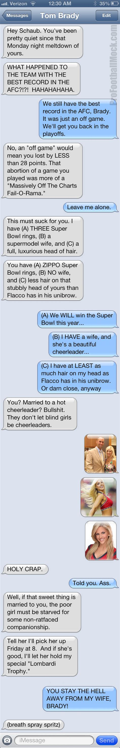 Tom Brady Waits For Giseles Text by Total Pro Sports Here S A Text Message Convo Between Tom