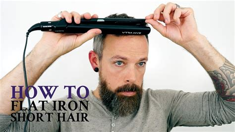 how do you use straighteners on a short side fringe how to use a flat iron on men s short hair youtube