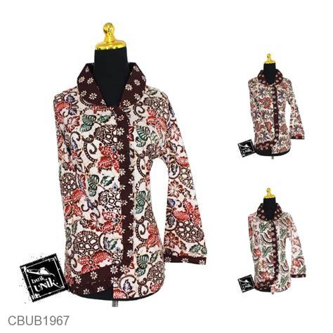 Baju Batik Blus baju batik blus panjang motif kembang tumpal blus lengan panjang murah batikunik