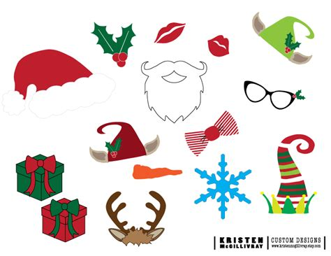 printable xmas photo props freebies kristen mcgillivray