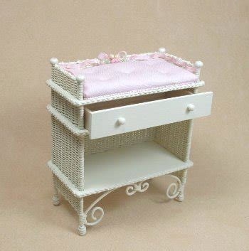 Wicker Baskets For Changing Table Changing Table Ucw Chngtble 99 00 Miniature Wicker Furniture And Wicker Baskets By