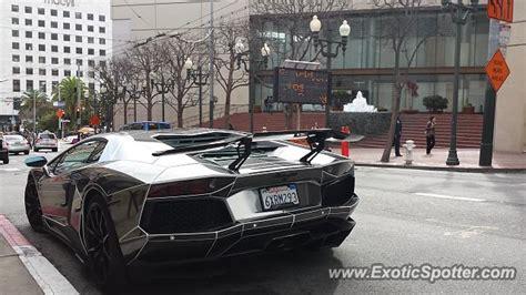 Lamborghini Sf Lamborghini Aventador Spotted In San Francisco California