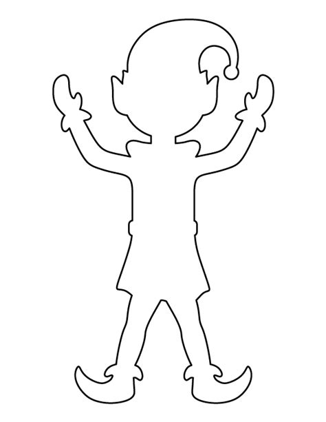 printable elf cut outs elf pattern use the printable outline for crafts