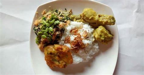 resep lauk pauk nasi urap enak  sederhana cookpad