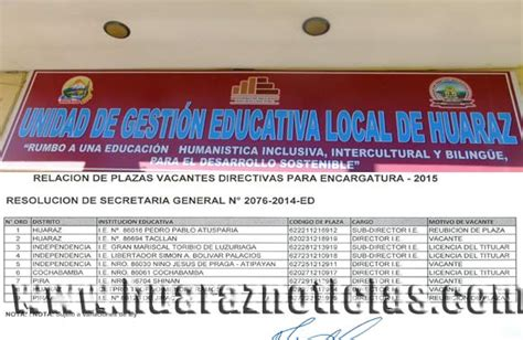 plazas vacantes de la ugel huancavelica 2016 newhairstylesformen2014 de la ugel en desacuerdo con la publicacin de plazas para