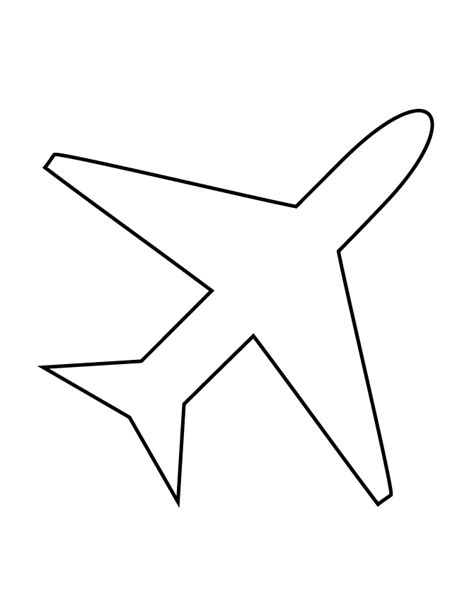 airplane cut out template choice image templates design